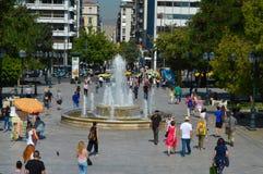 Syntagmavierkant in Athene, Griekenland op 23 Juni, 2017 Royalty-vrije Stock Foto's
