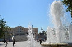 Syntagmavierkant in Athene, Griekenland op 23 Juni, 2017 Stock Fotografie