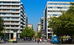 Syntagmavierkant in Athene, Griekenland op 23 Juni, 2017 Royalty-vrije Stock Fotografie