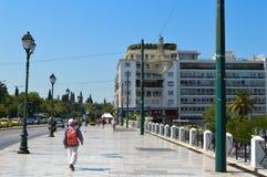 Syntagmavierkant in Athene, Griekenland op 23 Juni, 2017 Royalty-vrije Stock Afbeelding