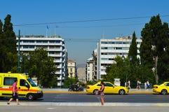 Syntagmavierkant in Athene, Griekenland op 23 Juni, 2017 Stock Afbeelding