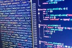 Syntaxe de PHP accentuée Développement de logiciel de WWW Conception de site Web photographie stock libre de droits