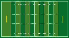 Syntetic football field (NFL) vector illustration
