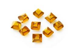 Syntetiska diamanter ZDN för gul Monocrystal Royaltyfria Bilder