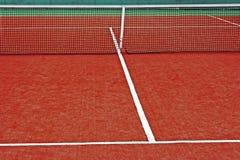 Syntetiskt sportfält för tennis 12 Arkivbild