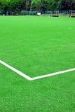Syntetyczna piłka nożna lub Footbal pole Zdjęcia Stock