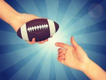 Syntetyczna rugby piłka Obrazy Royalty Free