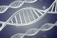 Syntetyczna, sztuczna DNA molekuła pojęcie sztuczna inteligencja świadczenia 3 d ilustracja wektor