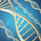 Syntetyczna, sztuczna DNA molekuła pojęcie sztuczna inteligencja świadczenia 3 d royalty ilustracja