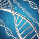 Syntetyczna, sztuczna DNA molekuła pojęcie sztuczna inteligencja świadczenia 3 d zdjęcia stock