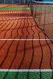 Syntetyczny sporta pole dla tenisa 2 Obrazy Royalty Free