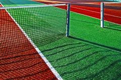 Syntetyczny sporta pole dla tenisa 10 Obrazy Stock