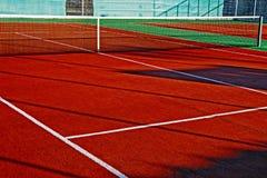 Syntetyczny sporta pole dla tenisa 7 Obraz Royalty Free