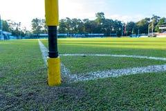 Syntetyczny trawa sportów pole z infill Fotografia Royalty Free