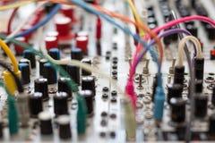 Synthétiseur analogue - synth modulaire Photos libres de droits