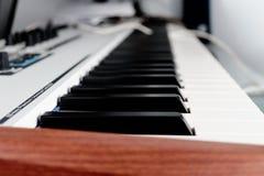 Synth键盘 免版税库存图片