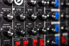 Synth rack close up Royalty Free Stock Photos