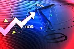 Synthesis of background of economic development Stock Photos