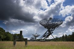 Synthesis Radio Telescope Arra. The Synthesis Radio Telescope Array at Westerbork, the Netherlands stock images