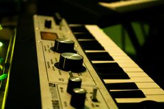 Synthesize music. Synthesiser for making electronic beats stock photos