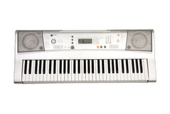 Synthesizer. Isolated over white background in studio stock photos