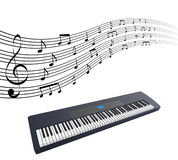 Synthesizer. Illustration of a synthesizer on a white background Stock Images