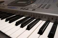 Synthesizer. Electronic instrument - close up Stock Image