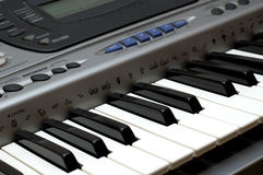 Synthesizer. Electronic instrument, close up Royalty Free Stock Photography
