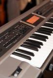 Synthesizer. Keyboard synthesizer, shallow focus depth stock photo