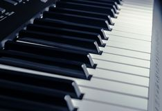 Synthesizer buttons close up Royalty Free Stock Photography