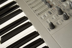 Synthesizer close-up Royalty Free Stock Photography