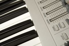 Synthesizer close-up Royalty Free Stock Photos