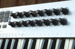 Synthesizer Controllers Royalty Free Stock Photo