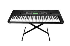 Synthesizer. An electronic piano, or synthesizer isolated on white stock photos