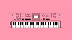 Synthesizer flat design. Synthesizer illustration. Illustration for banners and web sites Royalty Free Stock Photos