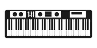 Synthesizer icon vector isolated on white background for your web and mobile app design, Synthesizer logo concept stock illustration