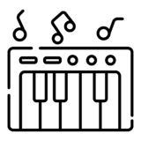 Synthesizer icon vector royalty free illustration
