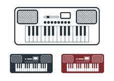 Synthesizer Icons Set, Vector Illustration Royalty Free Stock Photo