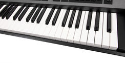 Synthesizer keyboard Royalty Free Stock Photography