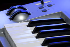 Synthesizer keyboard and controls Stock Photography