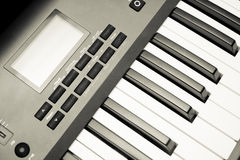 Synthesizer keyboard and controls Stock Photos