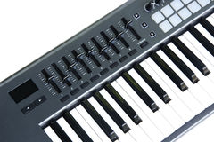 synthesizer Keyboard with Fader And Touch Royalty Free Stock Image