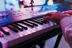 Synthesizer keyboard royalty free stock photo