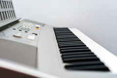 Synthesizer keyboard view Stock Images