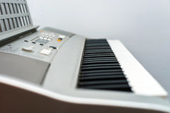 Synthesizer keyboard view Royalty Free Stock Image