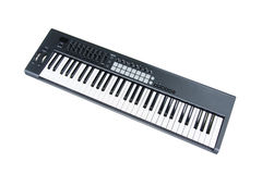 Synthesizer keyboard on white background Royalty Free Stock Photos