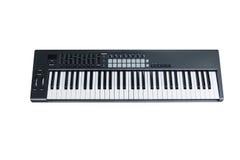 Synthesizer keyboard on white background Royalty Free Stock Photography