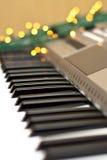 Synthesizer met lichten Stock Afbeelding