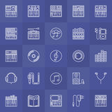 Synthesizer outline icons Royalty Free Stock Photos