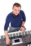 Synthesizer player Stock Images
